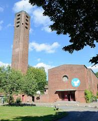 Timotheuskirche in Hamburg Horn, erbaut 1961 - Architekten Friedrich R. Ostermeyer und Paul Suhr.