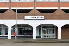 Geometrische Architektur - Hotel am Sieldeich in Hamburg Veddel.
