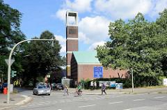Ev. Luth Kirche Jubilatekirche an der Möllner Landstraße in Hamburg Billstedt.