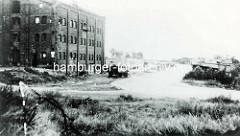 Historische Ansicht von der Hamburger Veddel - Industriearchitektur an der Veddeler Brückenstraße.