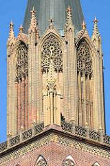 Kirchturm der Konzertkirche in Neubrandenburg - ehemalige Marienkirche - 2001 profaniert. Einweihung 1841.