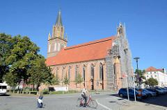 Konzertkirche in Neubrandenburg - ehemalige Marienkirche - 2001 profaniert. Einweihung 1841 - Entwurf / Bauleitung von Friedrich Wilhelm Buttel.