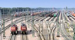 Der Maschen Rangierbahnhof /  Maschen Rbf  ist der größte Rangierbahnhof Europas.