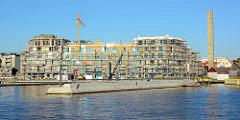 Erweiterung vom Stadthafen in Waren / Müritz - Neubauten / Baustelle.