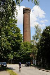 Der 64 m hohe Turm der Wasserwerke in Rothenburgsort ist das Wahrzeichen des Stadtteils.
