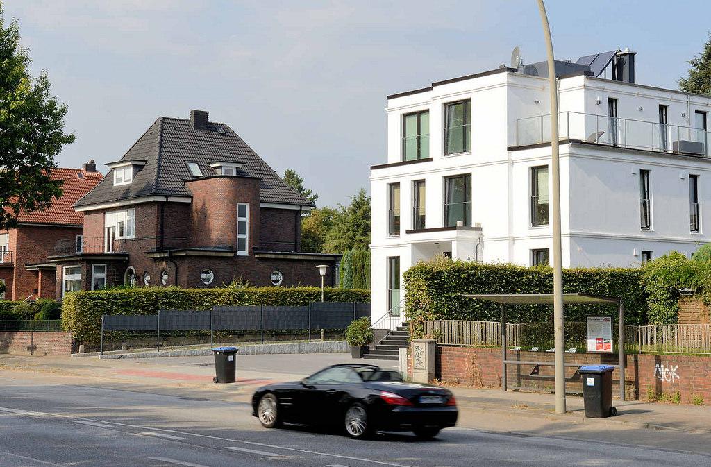 """bildarchiv-hamburg.com: Foto """"Einzelhäuser an der alten ..."""