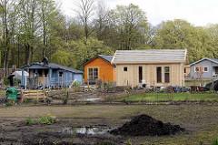 Ein neuer Schrebergarten / Kleingarten wird  auf dem Gelände  des ehemaligen Anzuchtgartens vom Hamburger Stadtpark angelegt