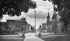 Historische Ansicht von der Kavalierstraße in Dessau.