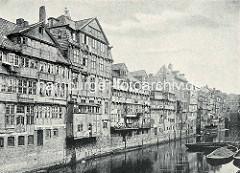 Alte Aufnahme vom Mührenfleet, die Verlängerung von Dovenfleet zum Hamburger Binnenhafen.