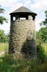 Turm am Ochsenwall / Burgwall in Ziebigk - Ortsteil von Dessau-Roßlau.