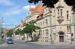 Neugotisches Gebäude der Hauptpost in Dessau-Roßlau / erbaut 1899 bis 1901.