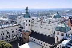 Blick auf den Südflügel sogenannter Bogislawbau, des Stettiner Schlosses - Sitz der Pommerschen Herzöge (Zamek Książąt Pomorskich) in Stettin