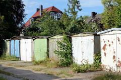 Alte Garagen - Stadtteil Roßlau in Dessau-Roßlau.