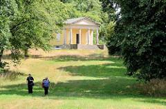 Weinberghaus in der Gartenanlage vom Schloss Großkühnau / Dessau-Roßlau; errichtet 1821, Ignazio Pozzi.