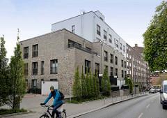 Neubauten  auf dem ehemaligen Tankstellen-Areal  an der Ohlsdorfer Straße in Hamburg Winterhude.