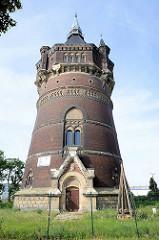 Neuer Wasserturm Dessau / Lutherplatz, Wahrzeichen der Stadt; 1897 erbaut, Architekt Paul Engel.
