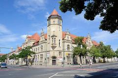 Baustil Neogotik - Gebäude der Hauptpost in Dessau-Roßlau / erbaut 1899 bis 1901.