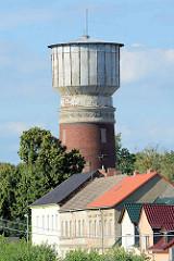 Wasserturm in Roßlau, Stadtteil von Dessau / Roßlau; historische Industriearchitektur.