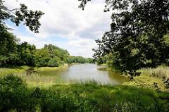 Landschaft / Gartenlandschaft im Beckerbruch, Parkanlage vom Georgium in Dessau-Roßlau.