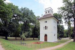 Elbpavillion in Dessau-Roßlau - Teil des Georgengartens, dem zweitgrößten Landschaftspark im Dessau-Wörlitzer Gartenreich.