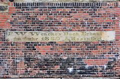 Historische Dockreste der Wencke-Werft in Bremerhaven / Wenckedock. Trockendock als Technikdenkmal, erbaut 1860.