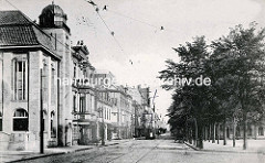 Historischer Blick vom Marktplatz in Bremerhaven in die Bürgermeister Smidt Straße.