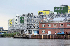 Gebäude vom Alfred-Wegener-Institut, Helmholtz-Zentrum für Polar- und Meeresforschung (AWI) in Bremerhaven; erbaut 1986.