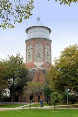 Wasserturm von Bremerhaven-Lehe, erbaut 1853 - Architekt Simon Loschen.