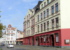 Gründerzeitarchitektur / Mietshäuser an der Fritz Reuter Straße in Bremerhaven.