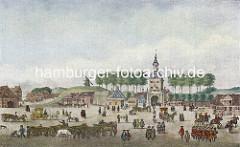 Stadttor der Hansestadt Hamburg - Zeughausmarkt und Millerntor um 1700.