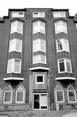 Expressionistische Backsteinarchitektur - Wohnhaus in Bremerhaven.