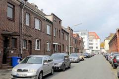 Schlichte Werkswohnungen - Reihenhaus mit Ziegelfassade - Lehe / Bremerhaven.