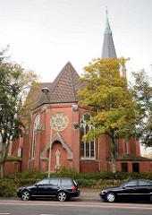 Katholische Herz-Jesu-Kirche in Bremerhaven-Geestemünde; erbaut 1911 - Architekt  Heinrich Flügel.