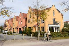Neubauten / Reihenhäuser beim Geestebogen in Bremerhaven.