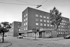 Wohnanlage Werkblock; Backsteinarchitektur in Lehe / Bremerhaven; erbaut 1930 - Architekten Friedrich Ostermeyer / Gustav Claas.