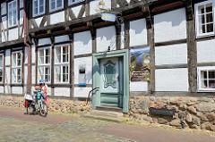Historisches Gebäude - altes Zollhaus in Hitzacker /Elbe; eines der ältesten erhaltenen Gebäude der Stadt, erbaut 1589 - seit 1986 Museum.