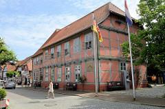 Rathaus, ehemaliges Königliches Amtshaus in Hitzacker / Elbe.