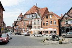 Marktplatz in der historischen Altstadt von Hitzacker