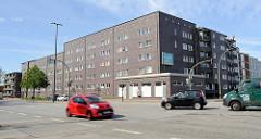Vorkriegsbauten an der Andreas-Meyer-Straße in Hamburg Billbrook - Klinkerarchitektur der 1920er Jahre.