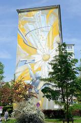 Hochhaus am Billhorner Röhrendamm Ecke Lindleystrasse in Hamburg Rothenburgsort.