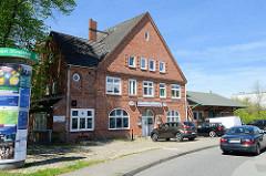 Denkmalschutz in Hamburg Eidelstedt ehemaliger Bahnhof der Vorortsbahn AKN, Eidelstedt-Ost; jetzt Gaststätte