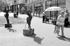 Kunst im öffentlichen Raum, Skulpturen  beim Marktplatz von Hamburg Rothenburgsort.