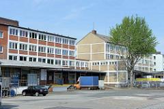 Gewerbehof am Brandshof in Hamburg Rothenburgsort. Architektur  der 1960er Jahre.