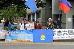 Mitglieder der Chinese Republican Party auf der Demonstrationszug am 08. Juli gegen G20 in Hamburg.