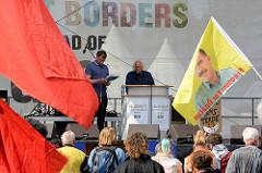 Abschlusskundgebung am Millerntorplatz - Demonstration am 08. Juli gegen G20 in Hamburg.