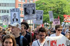 Demonstration Bildungsstreik  - Jugend Gegen G20 in Hamburg.