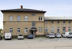 Altes Gebäude - Güterabfertigung Riesa, Güterbahnhof an der Heinrich Schönberg Straße.