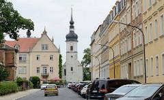 Blick zur Klosterkirche Riesa - Die Gründung und der Bau eines Klosters fällt in die Zeit zwischen 1111 und 1119.