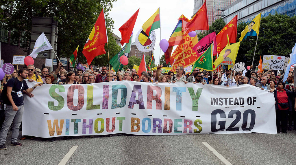 Transparent Solidarity without Borders - Instead of G20; Demonstration am 08. Juli gegen G20 in Hamburg.