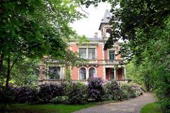 Gründerzeit-Villa Schütt in Wilster, erbaut 1897 für den Lederfabrikanten Marcus Schütt.